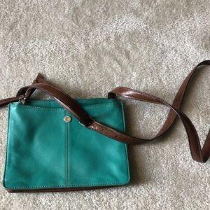 Hobo Teal Crossbody Bag